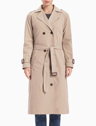 CALVIN KLEIN A-OAK LONG TRENCH