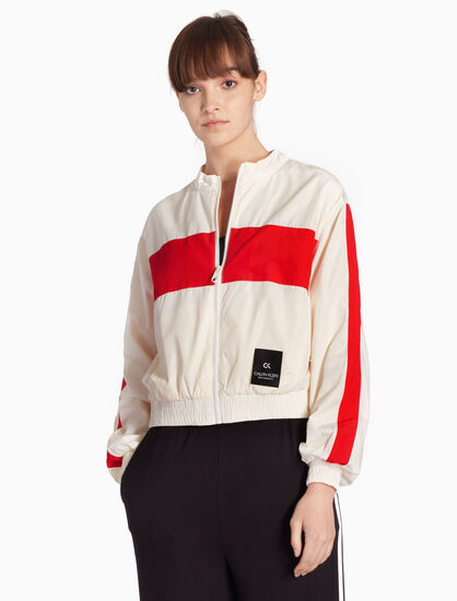 CALVIN KLEIN COLOR TAPE WOVEN JACKET
