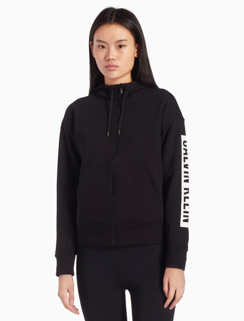 CALVIN KLEIN LOGO HOODED SWEAT JACKET