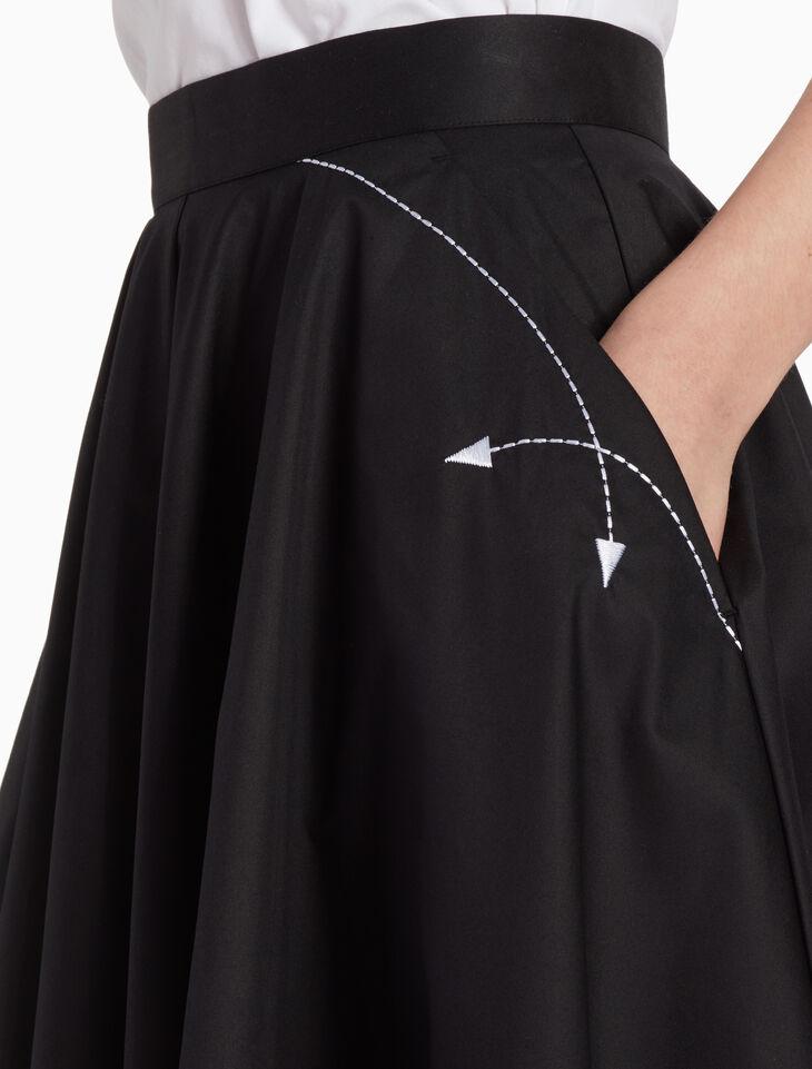 CALVIN KLEIN Z TWIST フレアースカート