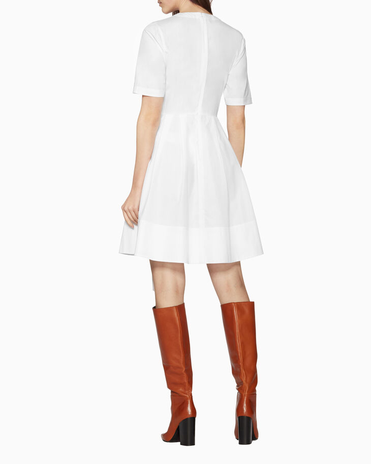 CALVIN KLEIN LIGHTWEIGHT COTTON POPLIN DRESS