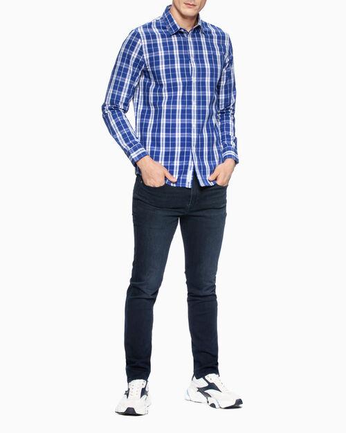 CALVIN KLEIN 37.5 PLAID SLIM FIT 셔츠