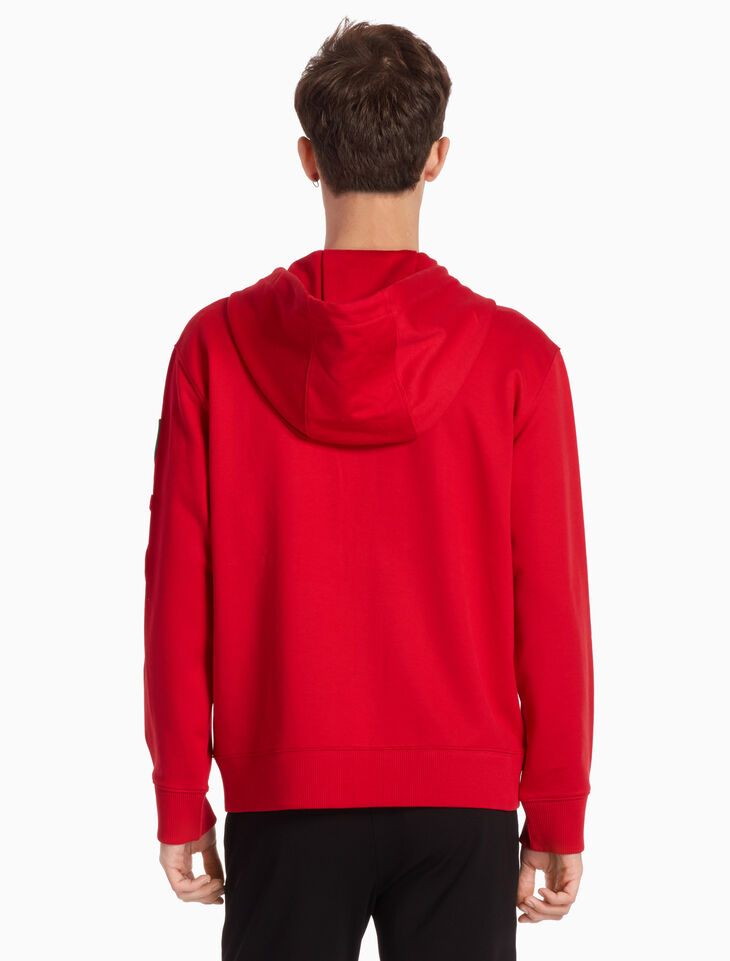 CALVIN KLEIN STRETCH TERRY ZIP UP HOODIE