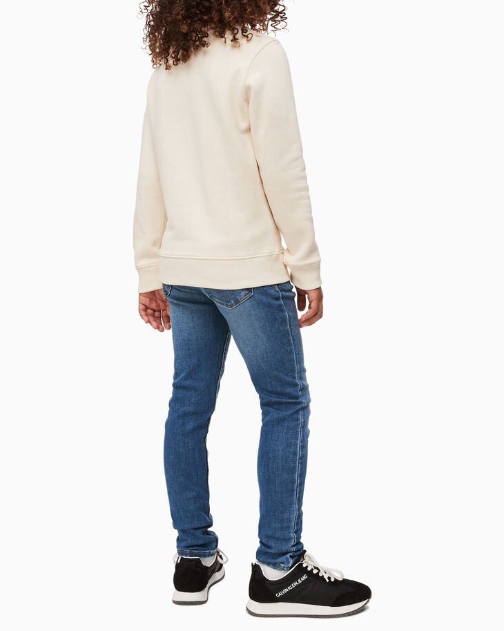 CALVIN KLEIN 여아용 트리플 로고 스웨트셔츠