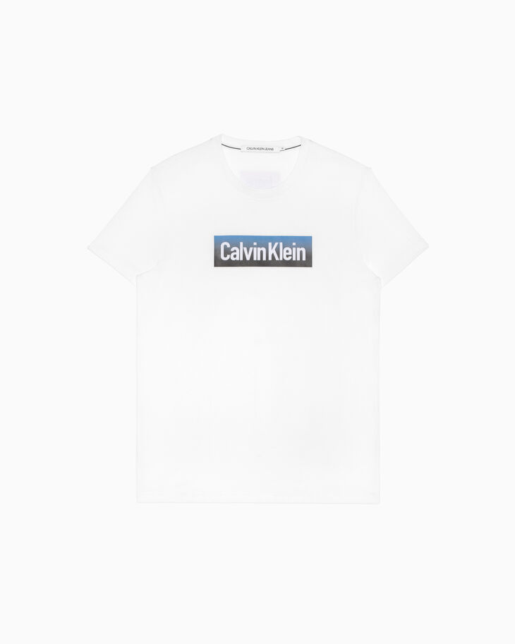CALVIN KLEIN HOLLOW OUT LOGO 티셔츠