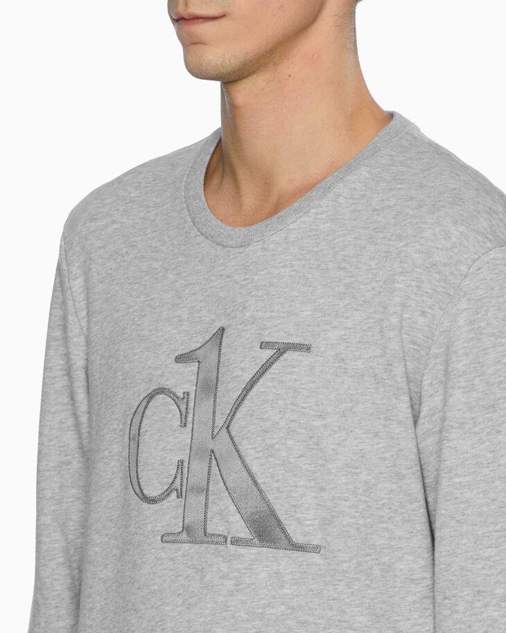 CALVIN KLEIN CK ONE RAW EDGE LOUNGE SWEATSHIRT