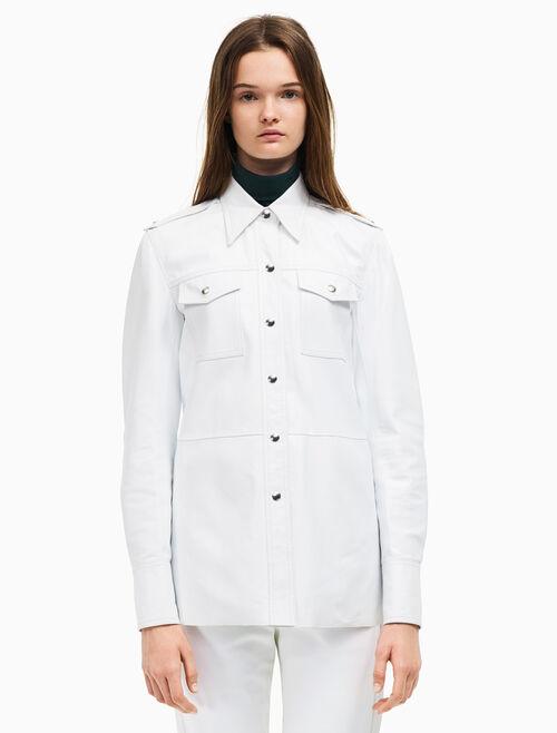 CALVIN KLEIN leather jean shirt
