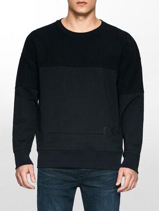 CALVIN KLEIN トーナルカラー ブロック スウェットシャツ