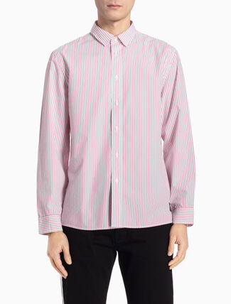 CALVIN KLEIN ストライプロングスリーブシャツ