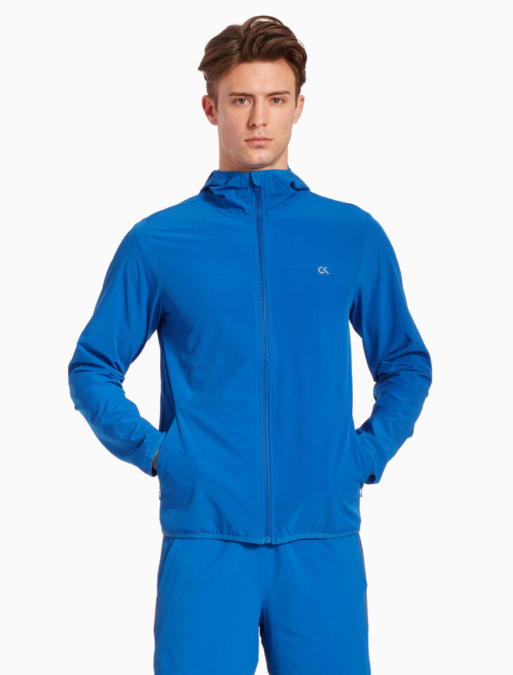 CALVIN KLEIN HOODED WINDBREAKER JACKET