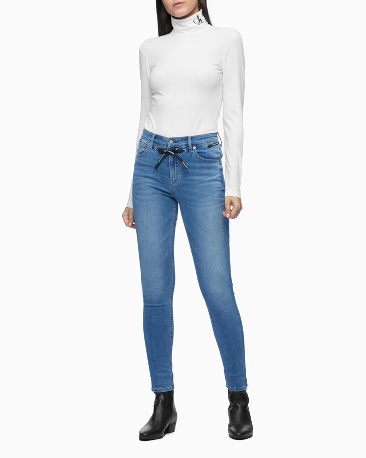 CALVIN KLEIN INFINITE FLEX HIGH RISE BODY SKINNY JEANS
