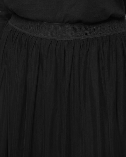 CALVIN KLEIN 여성 더블 레이어 메쉬 롱 스커트