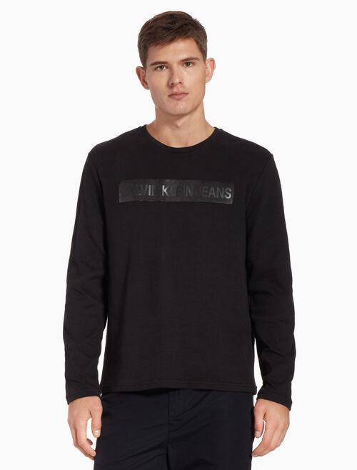 CALVIN KLEIN REVERSED サテン ロゴTシャツ