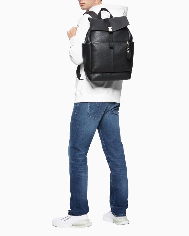 CALVIN KLEIN MICRO PEBBLE TOP FLAP BACKPACK