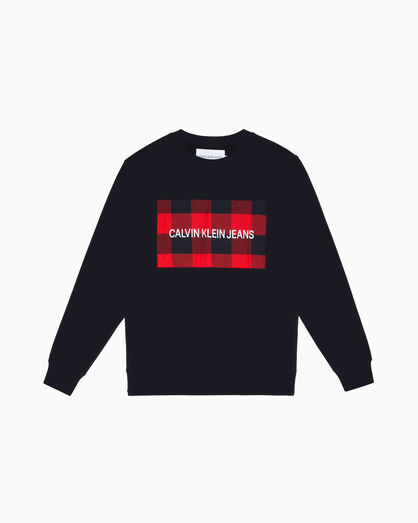 CALVIN KLEIN INSTITUTIONAL CHECK LOGO 스웨트셔츠