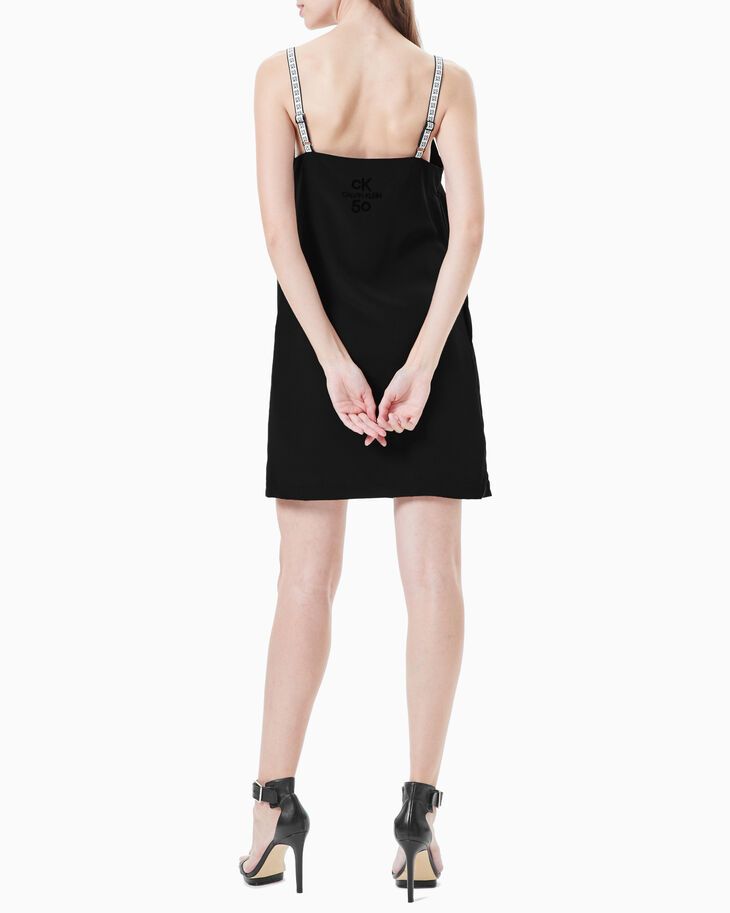 CALVIN KLEIN CK50 LOGO SLIP DRESS