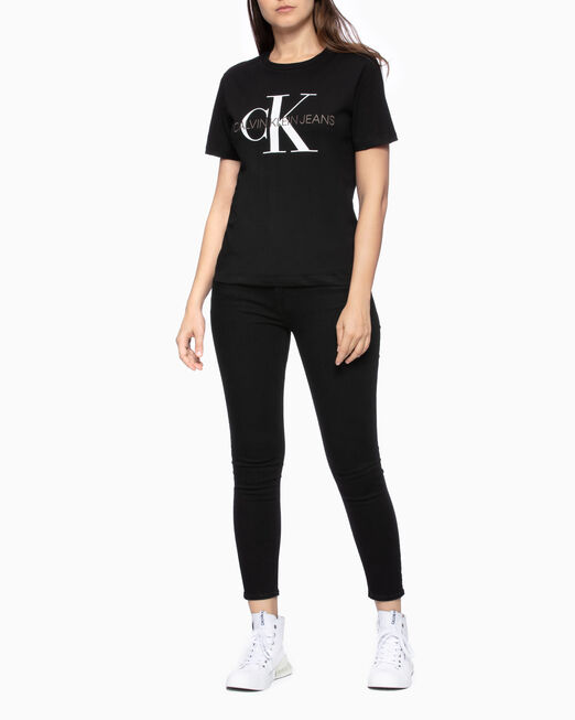 CALVIN KLEIN EMBROIDERED MONOGRAM LOGO 티셔츠