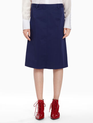 CALVIN KLEIN Twill box pleated skirt
