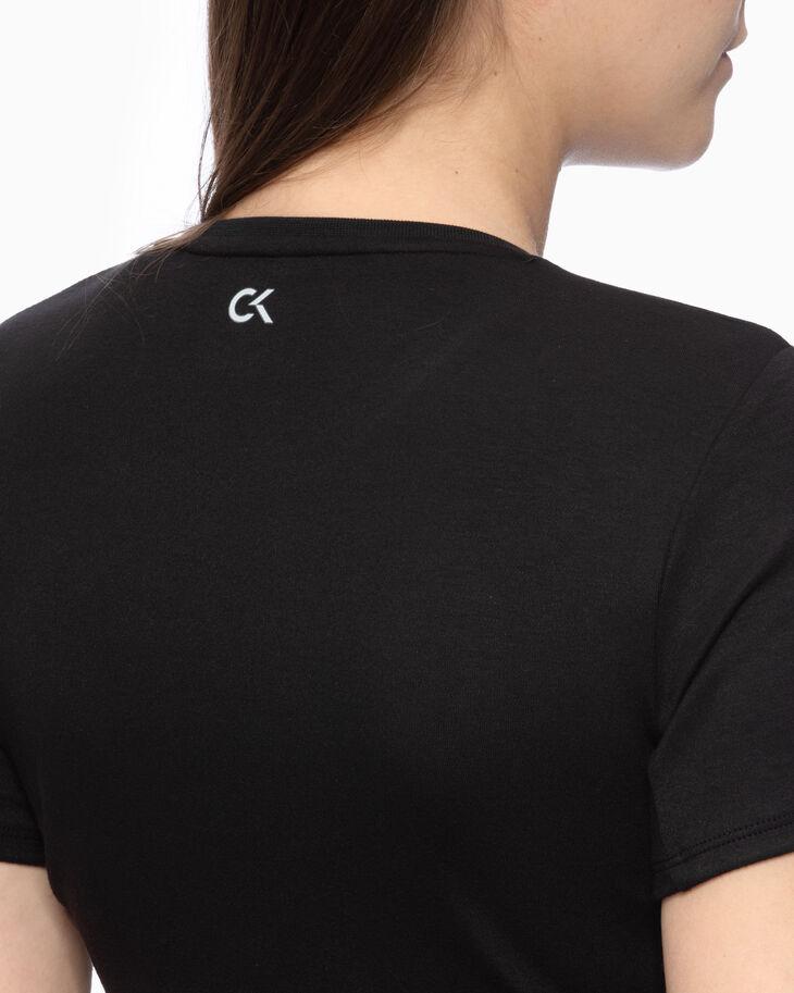 CALVIN KLEIN ACTIVE ICON クロップド ラップオーバーヘム T シャツ