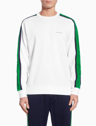 CALVIN KLEIN SIDE STRIPE ロングスウェットシャツ