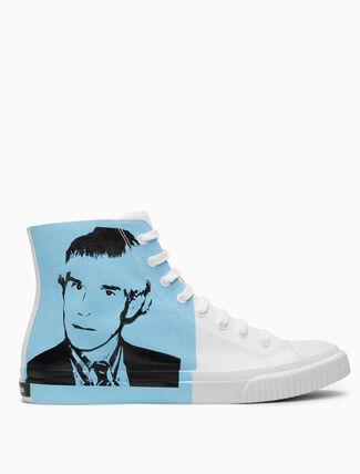 CALVIN KLEIN Warhol Portrait Canvas Sneakers