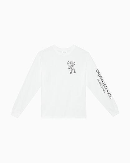 CALVIN KLEIN GRAPHIC PRINT 긴소매 티셔츠