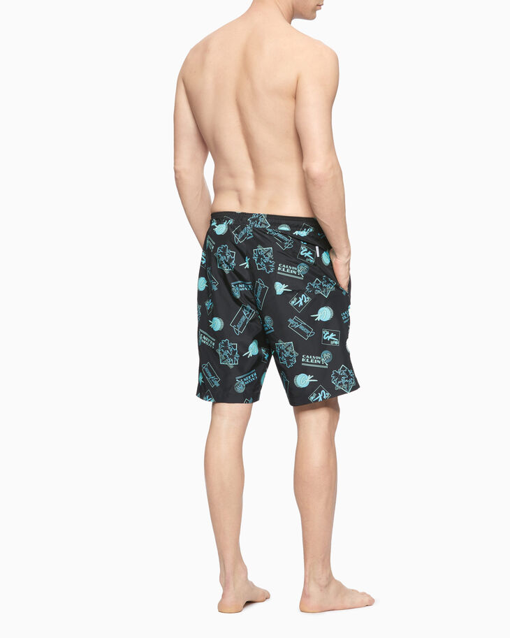 CALVIN KLEIN CK WAVE LONG DRAWSTRING SHORTS