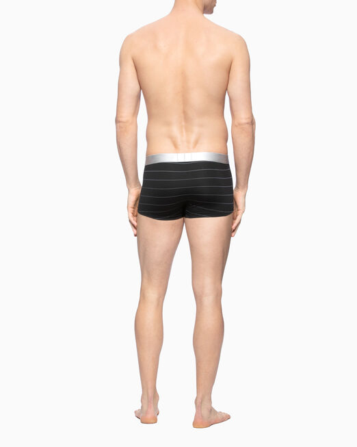 CALVIN KLEIN CK BLACK JACQUARD STRIPE LOW RISE TRUNK