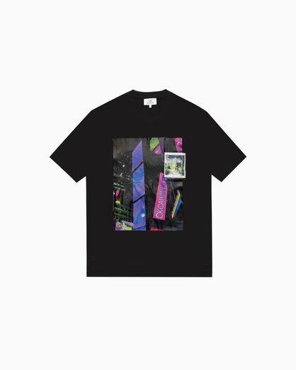 CALVIN KLEIN 디지털 프린트 피마 코튼 티셔츠