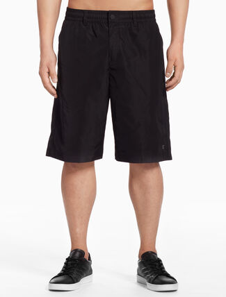 CALVIN KLEIN WOVEN SHORTS WITH BELT LOOPS