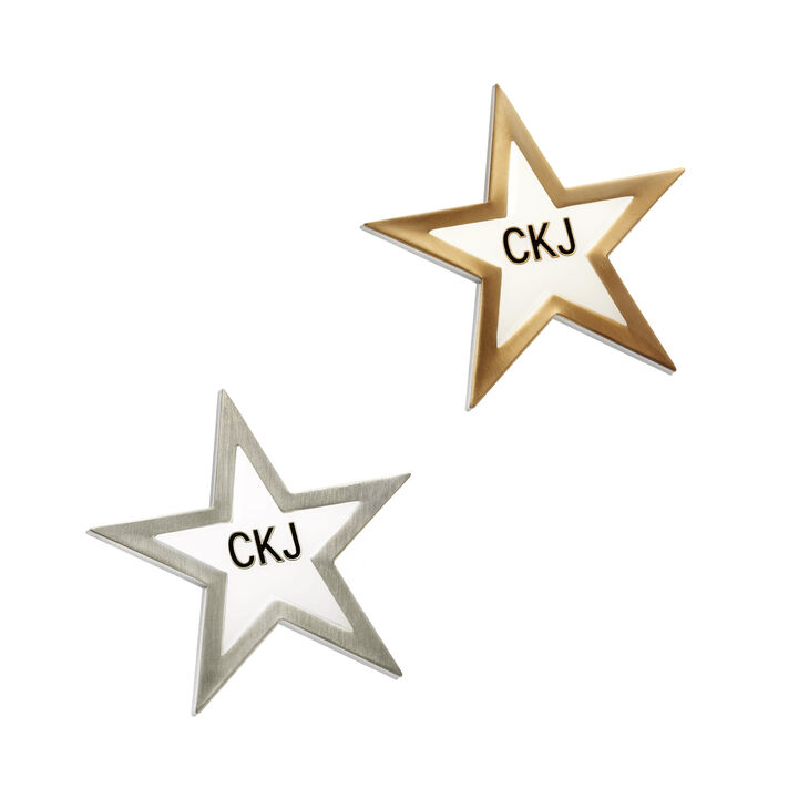 CALVIN KLEIN GOLD ANTIQUE STARS PINS SET
