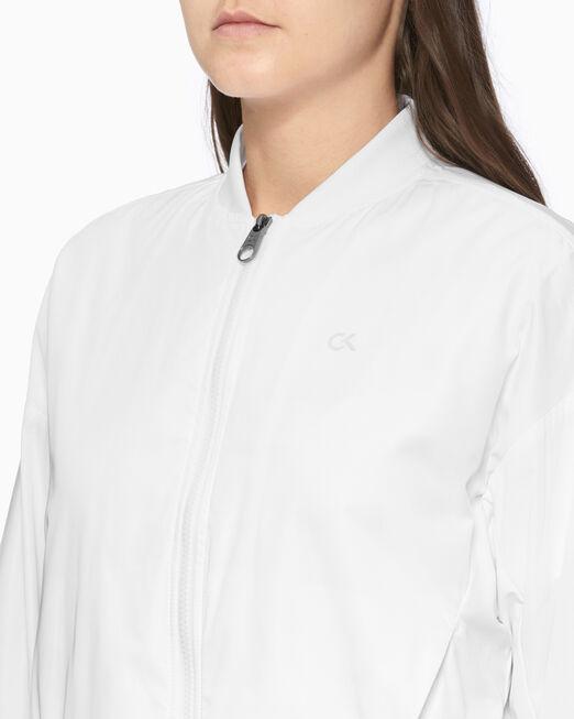 CALVIN KLEIN 여성 액티브 아이콘 백 플리츠 봄버 자켓