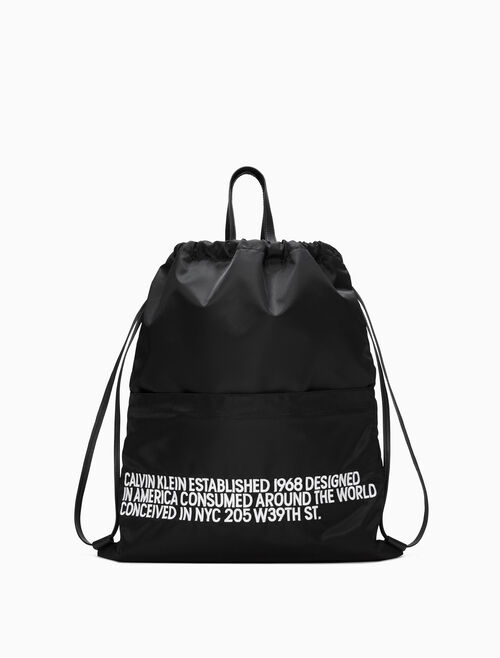 CALVIN KLEIN Embroidered Drawstring Backpack