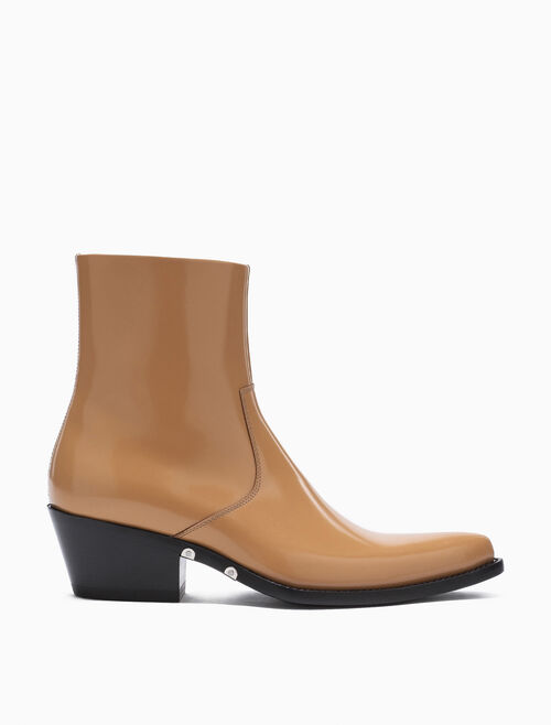 CALVIN KLEIN WESTERN ANKLE BOOT IN SILICONE