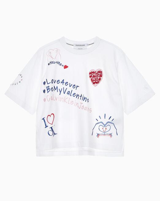 CALVIN KLEIN 여성 발렌타인 패션 반팔 티셔츠