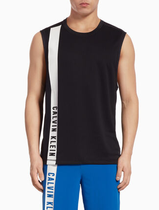 CALVIN KLEIN TANK TOP WITH SIDE LOGO STRIPE