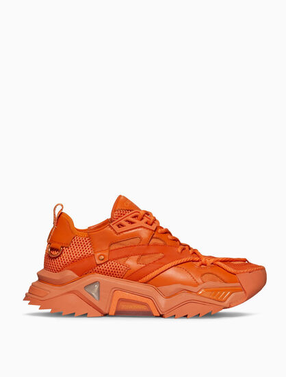 CALVIN KLEIN STRIKE 205 LACE-UP HEAVY TREAD ATHLETIC SNEAKER IN JEWELED NAPPA LEATHER