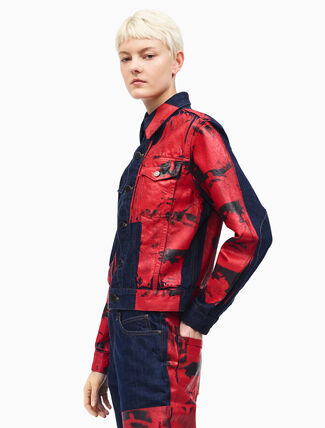 CALVIN KLEIN dennis hopper archive trucker jacket