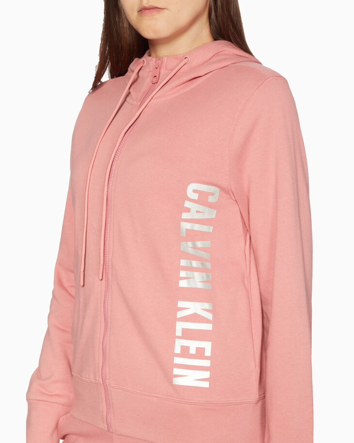 CALVIN KLEIN GRAPHIC STORY LOGO HOODED JACKET