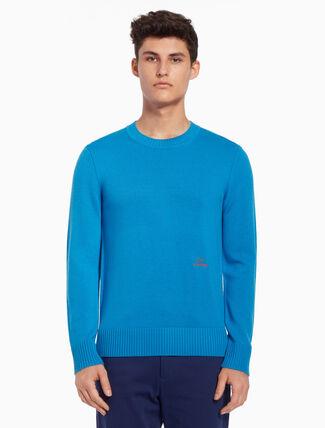 CALVIN KLEIN Logo embroidery pullover sweater