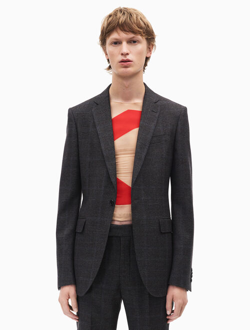 CALVIN KLEIN slim fit single-breasted blazer