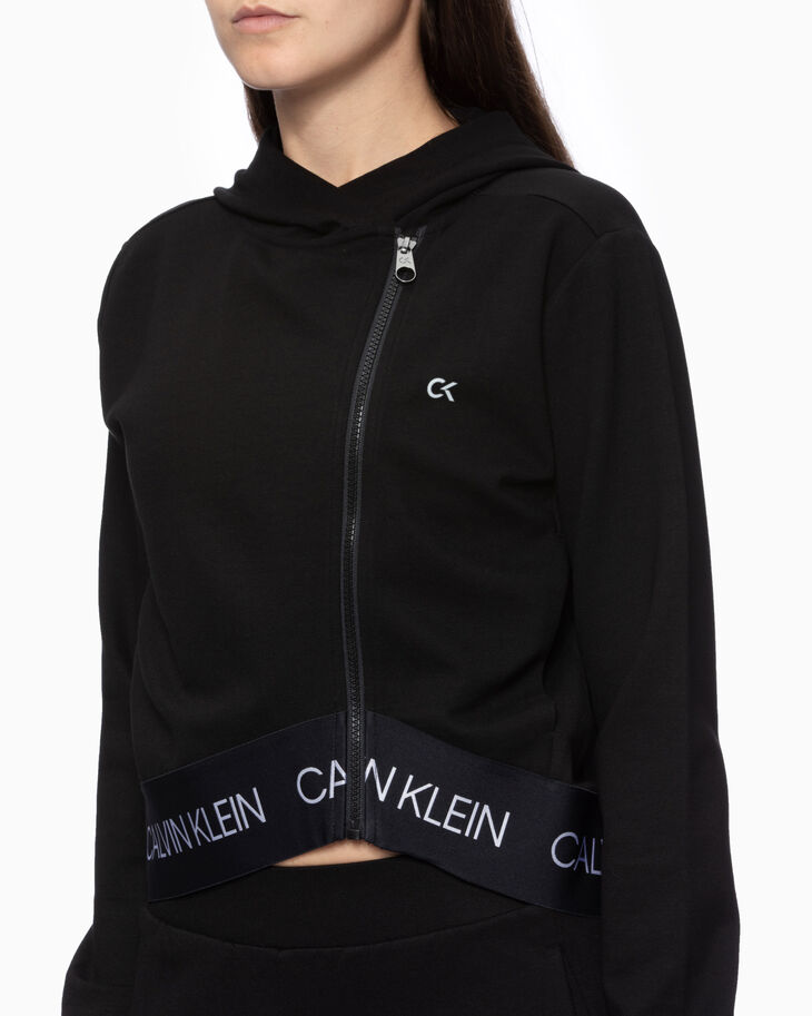 CALVIN KLEIN ACTIVE ICON ASYMMETRIC HOODED JACKET