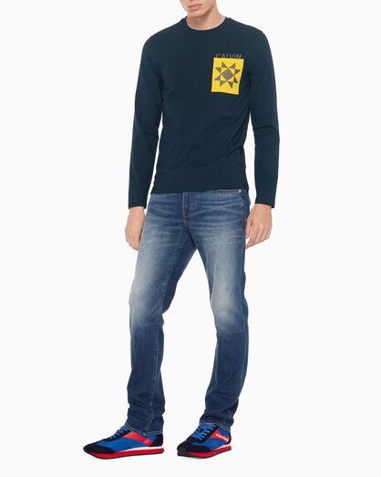CALVIN KLEIN LOGO GRAPHIC 슬림 티셔츠