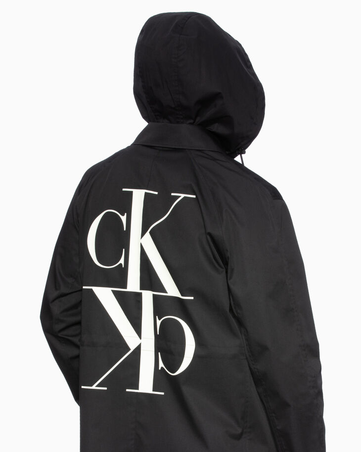 CALVIN KLEIN MIRRORED MONOGRAM LOGO 코트