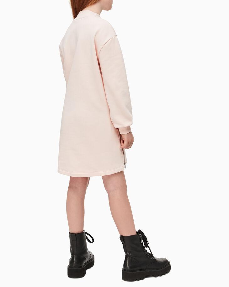 CALVIN KLEIN GIRLS' ZIP HEM SWEATSHIRT DRESS