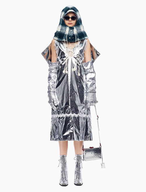 CALVIN KLEIN SPACE BLANKET 오버드레스