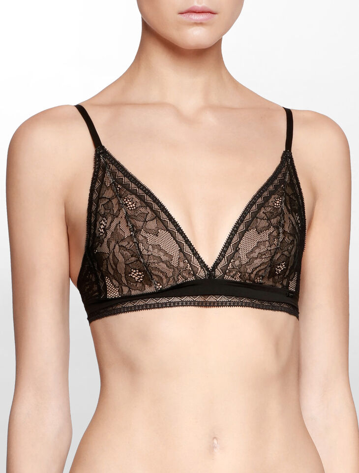 CALVIN KLEIN CK BLACK OBSESS UNLINED TRIANGLE BRA