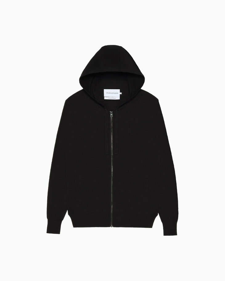 CALVIN KLEIN CASHMERE BLEND ZIP UP 후디
