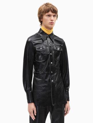CALVIN KLEIN leather uniform shirt