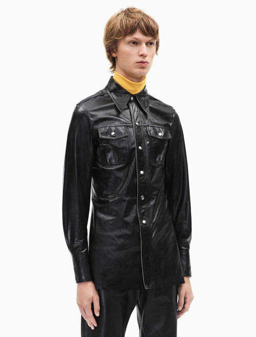 CALVIN KLEIN leather uniform shirt